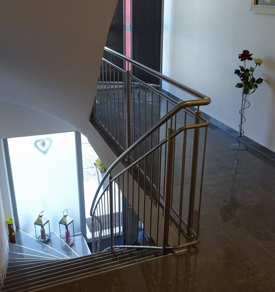 Treppengelnder Gelnder Edelstahlgelnder Glasgelnder
