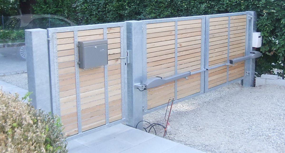 Gartentor und einfahrtstor mit torantrieb jakob haider for Gartengestaltung carport
