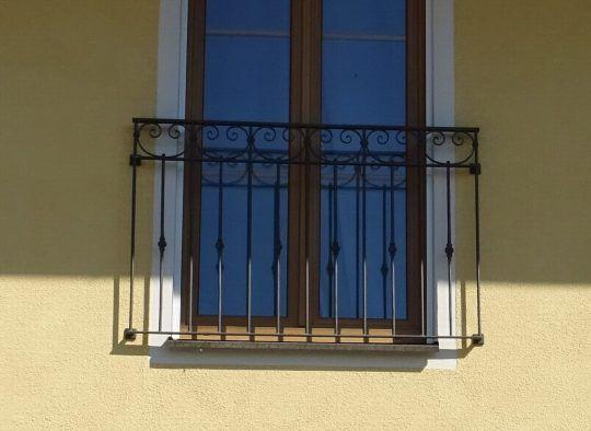 französischer Balkon Waging , geschmiedet , verzinkt und pulverbeschichtet