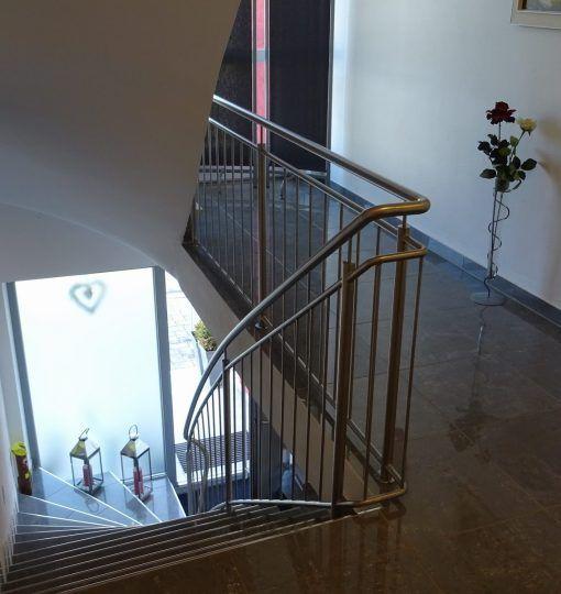 Treppengeländer Traunstein Edelstahl gebürstet