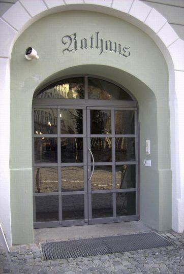 Eingangstüre zweiflügelig mit Isolierglasscheiben