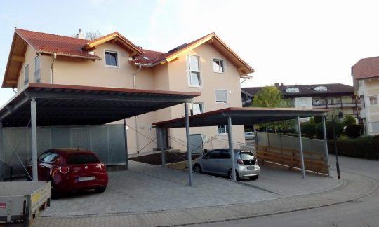 Carports Endorf bei Rosenheim, fertig montiert